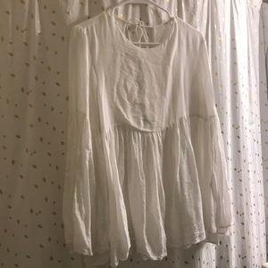long-sleeved angel blouse